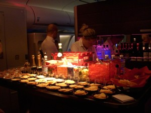 Upper Class Cabin Bar.... yeh